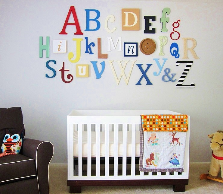 Alphabet Set -Wooden Letters -Alphabet Wall-ABC Wall- PAINTED 12\