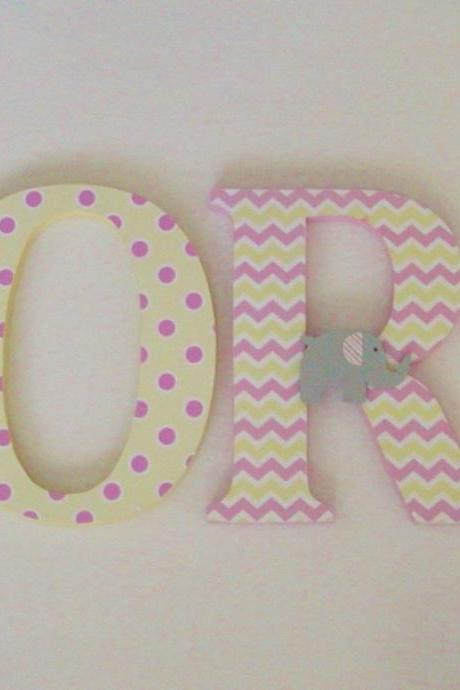 Wood Letters-Nursery Decor-Custom Made to Order
