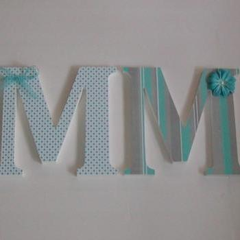 Wood Letters-Nursery Decor- ANY 4 LETTER NAME- Custom made to your décor